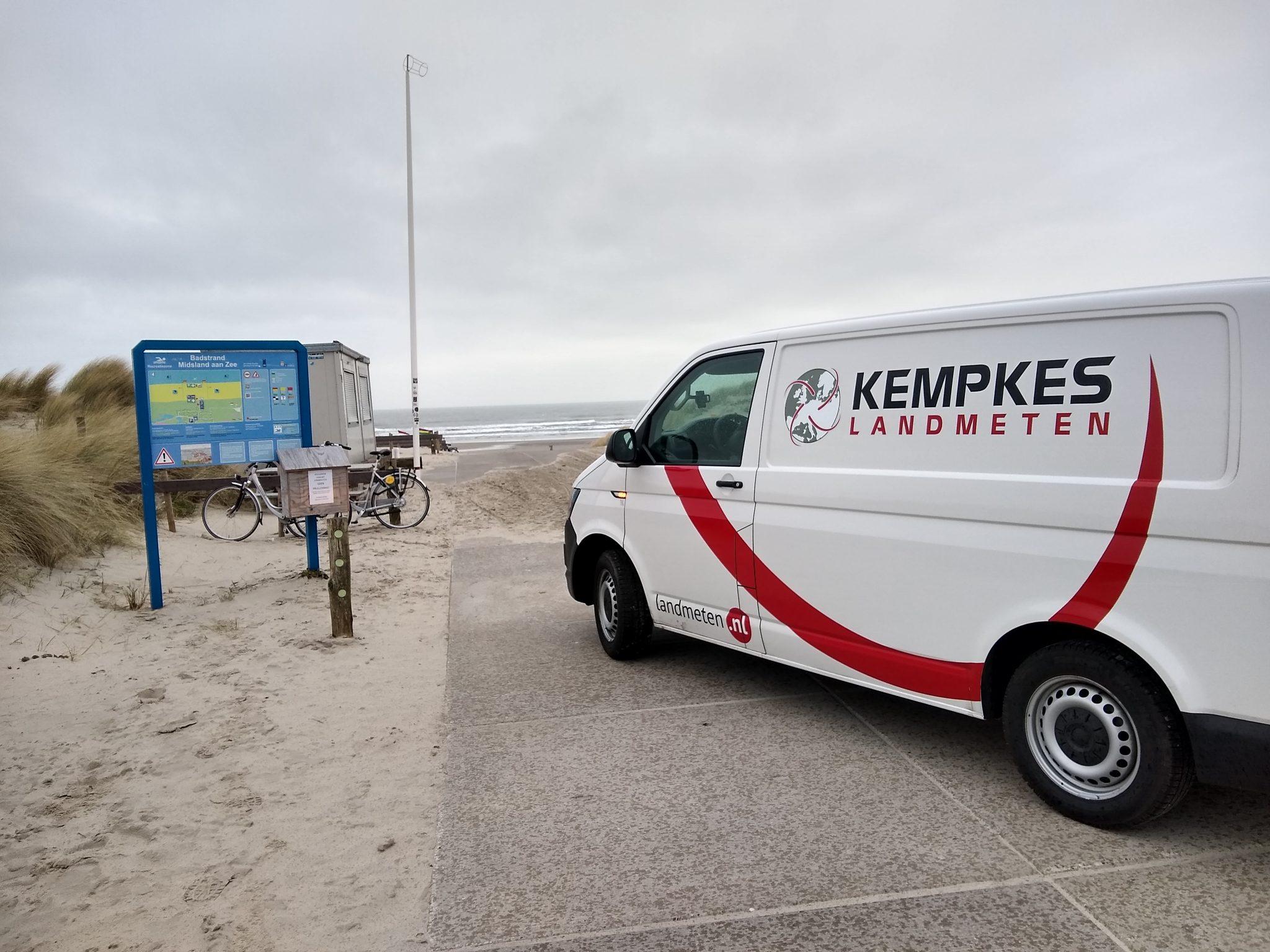Noordzeestrand Kempkes landmetent